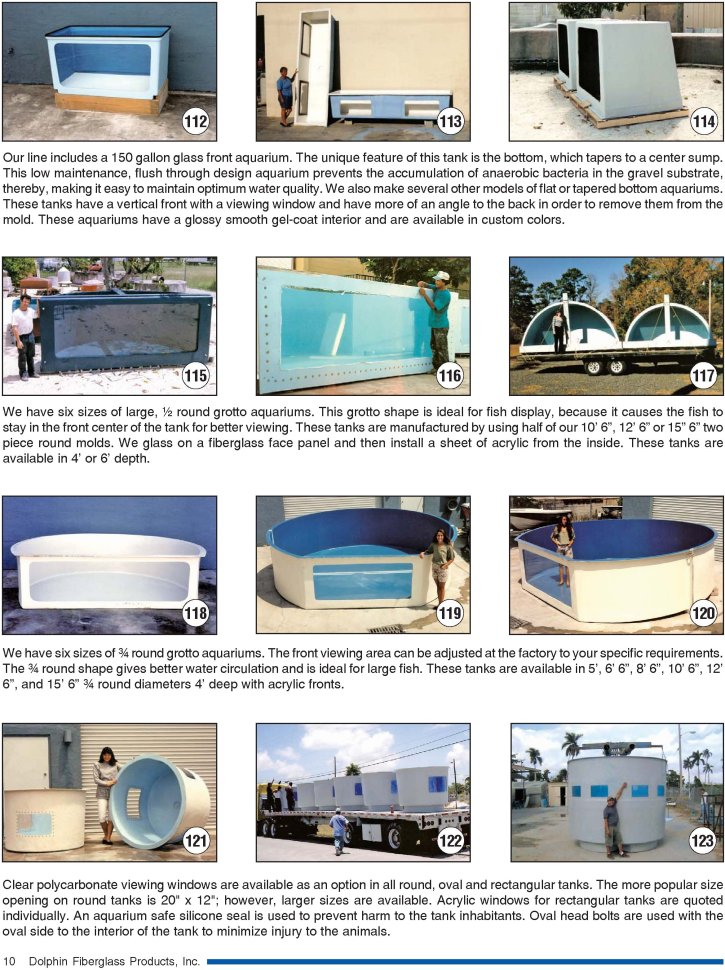 Dolphin Fiberglass Products, Inc  - Tanks, Ponds, Aquariums